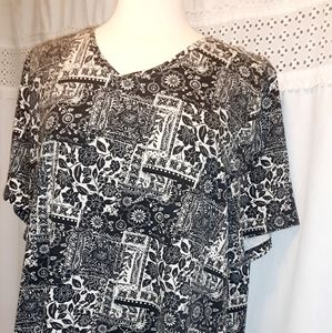 Catherine's Easy Fit Tees Collection 1X 18/20W Bla